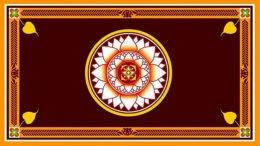 Flag of Sri Lanka President Gotabaya Rajapaksa