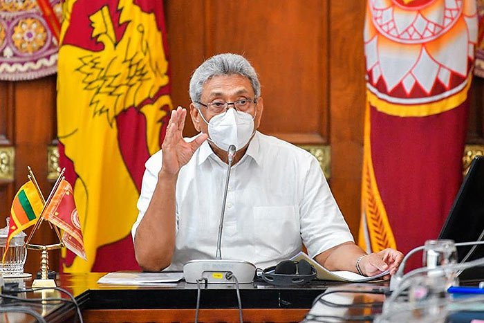 Sri Lanka President Gotabaya Rajapaksa on coronavirus