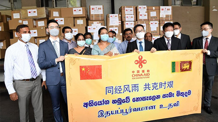 Rs. 50 million medical equipment from China to Sri Lanka
