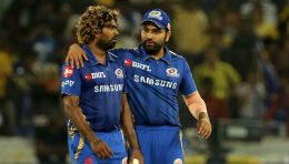 Lasith Malinga with Rohit Sharma