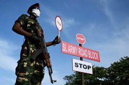 Sri Lanka Army road block