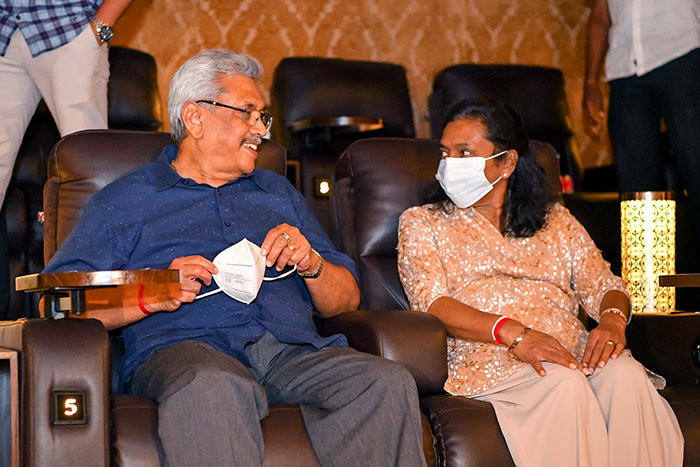 Sri Lanka President Gotabaya Rajapaksa with his Wife Ioma Rajapaksa