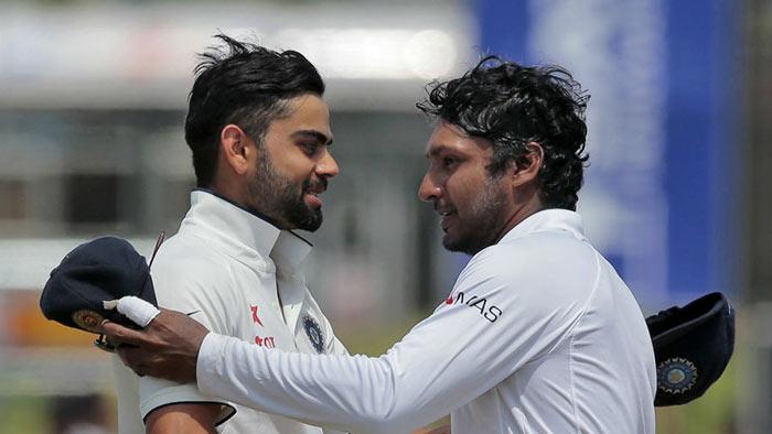 Virat Kohli and Kumar Sangakkara