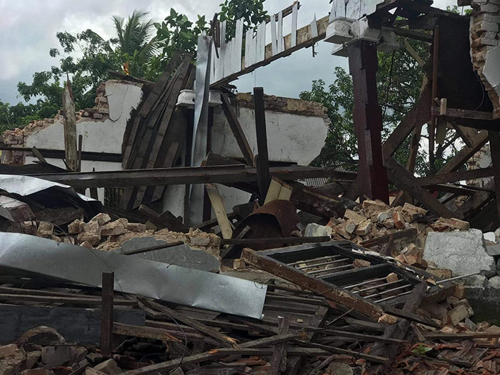 Demolished historic building in Kurunegala