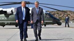 Donald Trump with Robert O'Brien