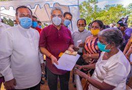 Sri Lanka President Gotabaya Rajapaksa with old retired female teacher in Puttalam
