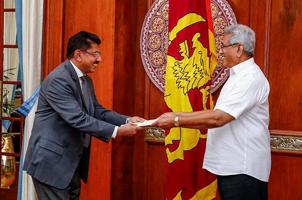 Dr. Anil Jasinghe and President Gotabaya Rajapaksa