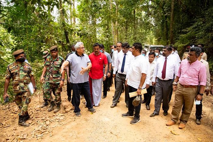 Sri Lanka President Gotabaya Rajapaksa on Neluwa Lankagama road construction