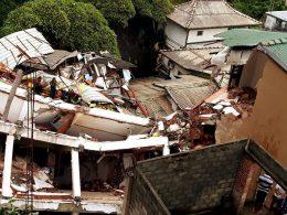 Building collapses at Buwelikada in Kandy Sri Lanka