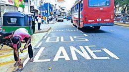 Bus lane in Sri Lanka