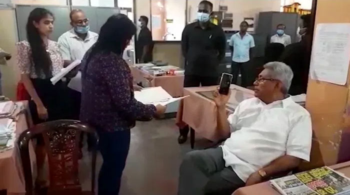 Sri Lanka President Gotabaya Rajapaksa made a inspection visit to the Narahenpita Office of the National Housing Development Authority