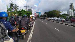 Road traffic in Colombo Sri Lanka