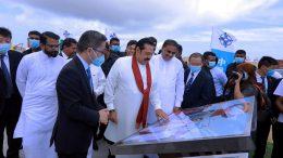 Sri Lanka Prime Minister Mahinda Rajapaksa at Colombo Port City