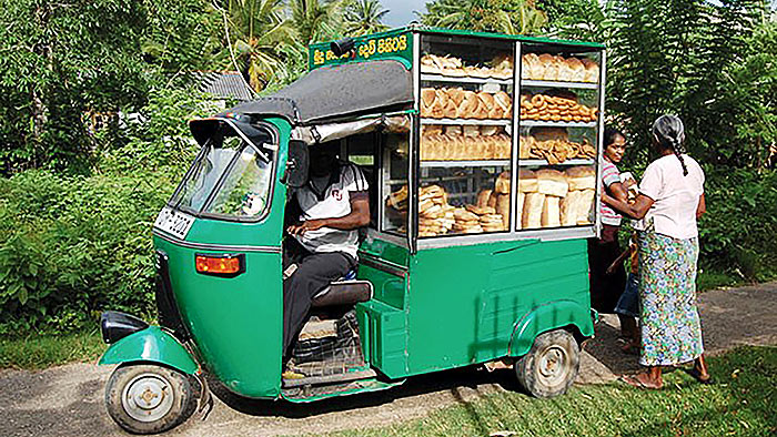 Bread seller in Sri Lanka