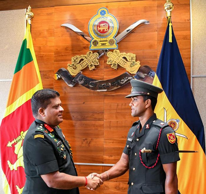 Major Dinesh Chandimal in Sri Lanka Army