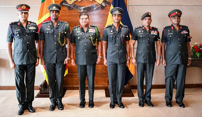 Major Thisara Perera and Major Dinesh Chandimal in Sri Lanka Army
