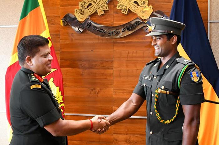 Major Thisara Perera in Sri Lanka Army