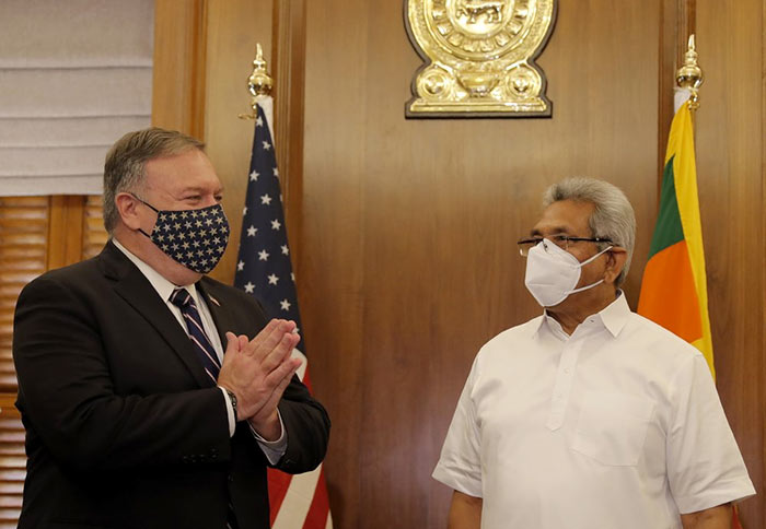 U.S. Secretary of State Mike Pompeo meets Sri Lanka President