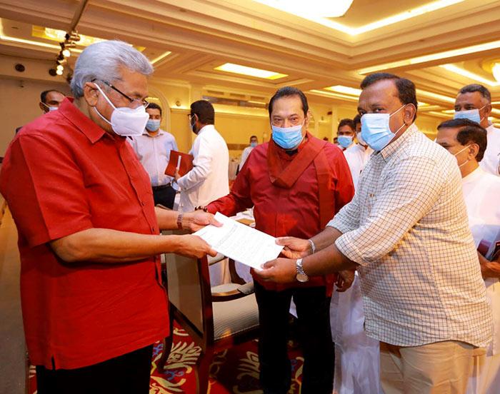 Request letter for re-arrest Riyaj Bathiudeen hand-over to President Gotabaya Rajapaksa