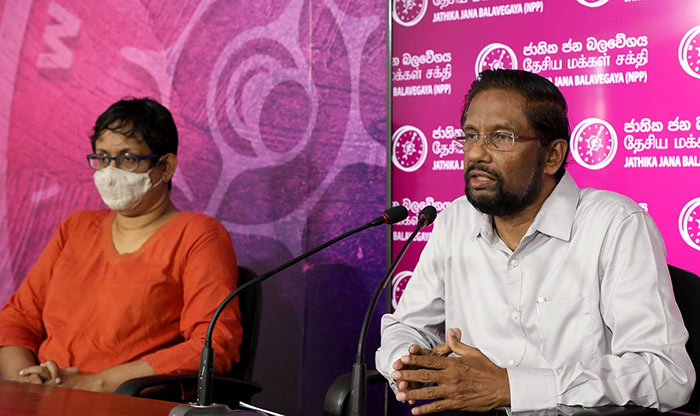 Nihal Abeysinghe and Harini Amarasuriya - JVP