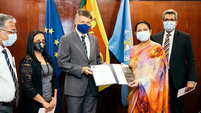 European Union and World Health Organization granted Euro 2 million to Sri Lanka to mitigate COVID-19