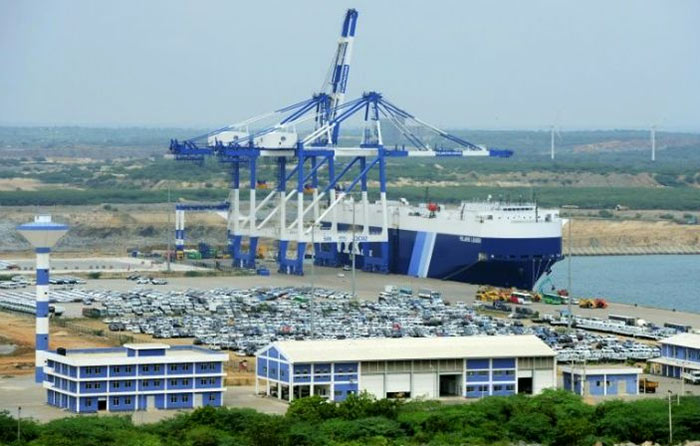 Hambantota port in Sri Lanka