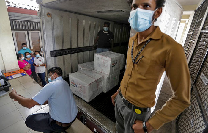 India donates first 500,000 doses of vaccine to Sri Lanka