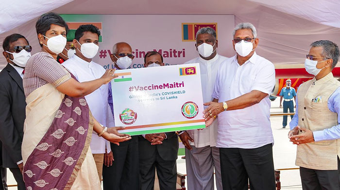 Sri Lanka President Gotabaya Rajapaksa receives COVID-19 vaccines from India
