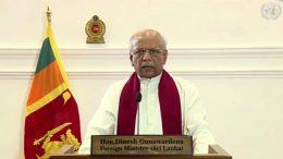 Sri Lanka's foreign minister Dinesh Gunawardena