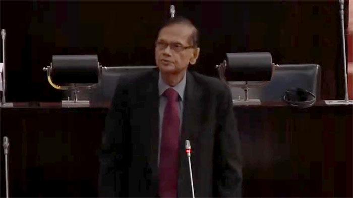 GL Peiris in Parliament of Sri Lanka