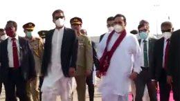 Pakistan Prime Minister arrives in Sri Lanka