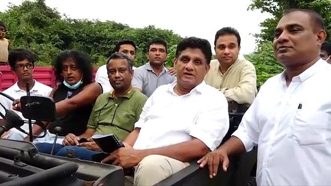 Sajith Premadasa in an observational tour of the Bellanwila Attidiya Sanctuary