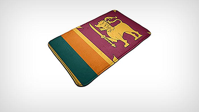 Sri Lanka flag doormat