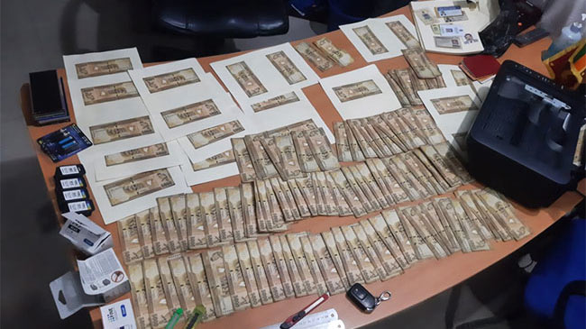 Two arrested with 124 counterfeit Rs. 5,000 notes