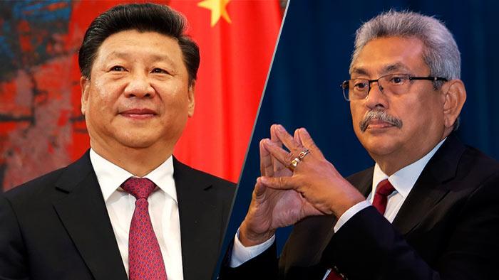 China President Xi Jinping and Sri Lanka President Gotabaya Rajapaksa