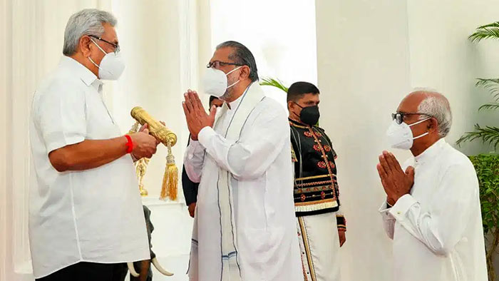 Nekath Seettuwa for Sinhala and Tamil New Year was Presented to Sri Lanka President Gotabaya Rajapaksa