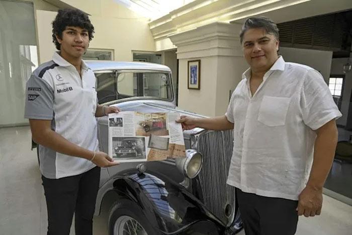 Sanjeev Gardiner and his son Seshaan