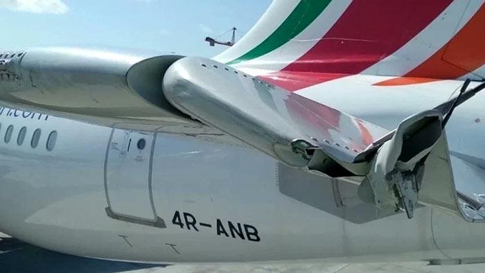 SriLankan Airlines flight UL116 damaged