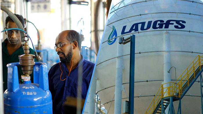 Litro and Laugfs gas companies in Sri Lanka