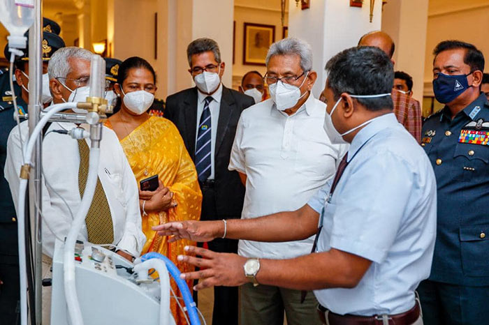 Sri Lanka Air Force makes heated humidified oxygen therapy units