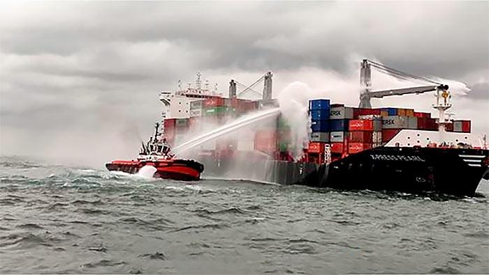 Sri Lanka Navy assists to douse fire onboard MV X-Press pearl