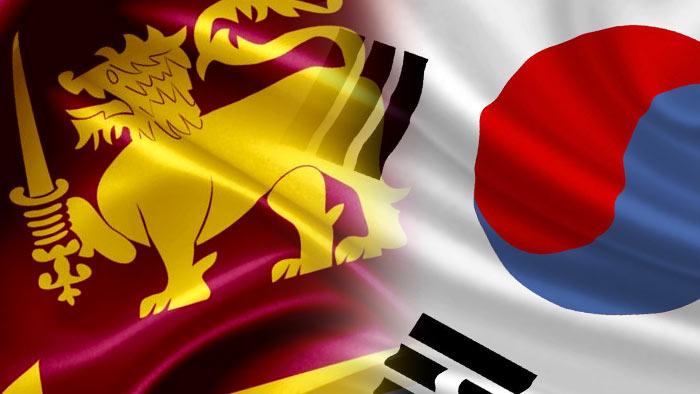 Sri Lanka South Korea flags