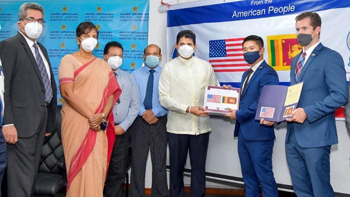 U.S. Government donates Rs. 13 million worth PCR test kits to Sri Lanka