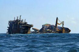 MV X-Press Pearl ship sank near Colombo Sri Lanka