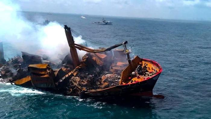 X-Press Pearl Ship is sinking