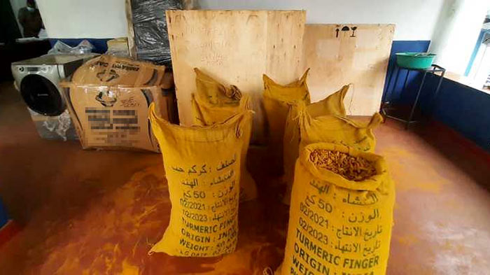 800 kilograms of illegally imported turmeric seized