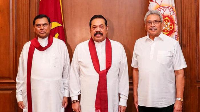Basil Rajapaksa, Mahinda Rajapaksa and Gotabaya Rajapaksa