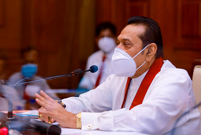 Sri Lanka Prime Minister Mahinda Rajapaksa