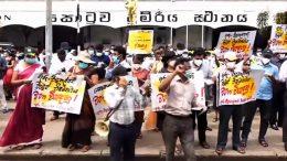 Teachers and Principals continue to protest in Colombo Sri Lanka