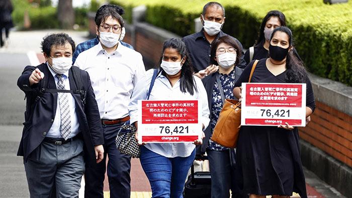 Dead Sri Lankan's kin urge Japan immigration to accept responsibility